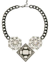 ASOS - Asos Chunky Jewelled Collar Necklace - Lyst