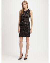 Diane von Furstenberg Delian Pebble Lace Peplum Dress - Lyst