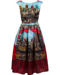 Dolce & Gabbana Soldier Print Dress - Lyst
