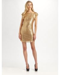 Kay Unger Sequined Dress - Lyst