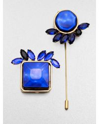 Marni Faceted Abstract Pin Set - Lyst