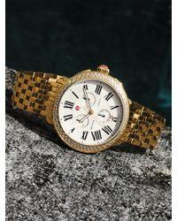 Michele Watches - Serein 18 Goldtone Stainless Steel Bracelet - Lyst