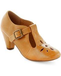 ModCloth Burst Of Style Heel in Mustard - Lyst