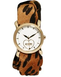 Boutique Moschino - Leopard and Red Trim Scarf Watch - Lyst