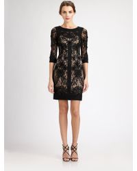 Sue Wong Embroidered Lace Dress - Lyst