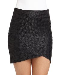 Torn - Casey Faux Leather Ruched Skirt - Lyst