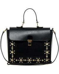 ASOS - Asos Leather Stud Across Body Bag - Lyst
