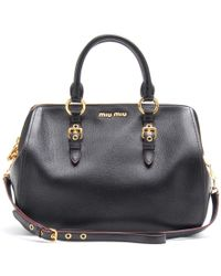 Miu Miu Leather Handbag - Lyst