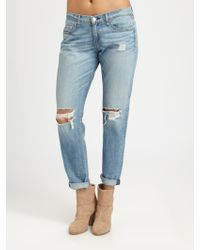 Rag & Bone/JEAN The Boyfriend Distressed Jeans blue - Lyst