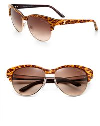 Roberto Cavalli Melograno Round Animal Print Sunglasses - Lyst