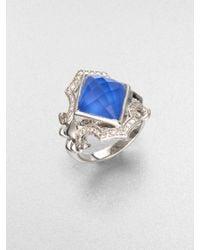 Stephen Webster Blue Agate Sterling Silver Ring - Lyst