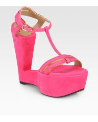 Sw1 Levity Suede Wedge Sandals - Lyst