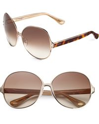 Tod's Round Metal Acetate Sunglasses - Lyst