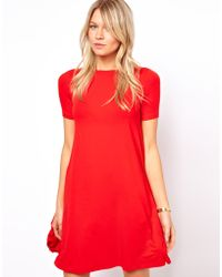 ASOS Collection | Swing Dress with Short Sleeves | Lyst
