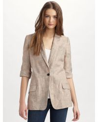 Elizabeth And James James Linen Blazer - Lyst