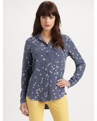 Equipment Starry Night Slim Signature Shirt - Lyst