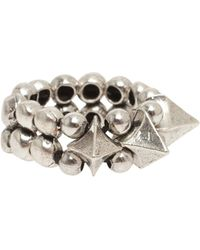 Philippe Audibert Large Spike and Ball Ring - Lyst