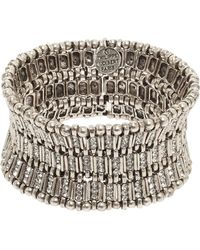 Philippe Audibert Ava Crystal Bar Link Cuff - Lyst