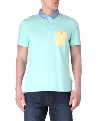 Ted Baker Contrast Pocket Polo - Lyst