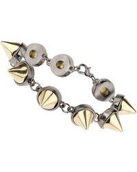 Topman Gold Spike Link Bracelet - Lyst