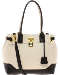 ASOS - Bag with Side Straps in Colourblock - Lyst