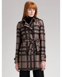 Burberry Check Jacquard Trench Coat - Lyst