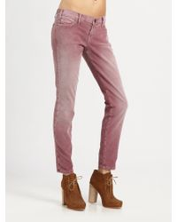 Current/Elliott The Corduroy Ankle Skinny Jeans - Lyst