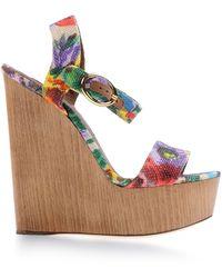 Dolce & Gabbana Wedge green - Lyst