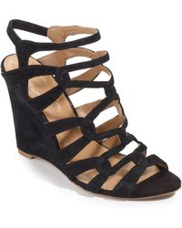 Elie Tahari - Meredith Suede Wedge Sandals - Lyst