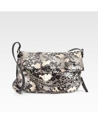 Jimmy Choo Python Shoulder Bag - Lyst