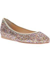 Just Ballerinas - Glitter Ballerina Flat - Lyst