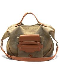 Kelsi Dagger Brooklyn - Alina Leather Canvas Hobo Bag - Lyst