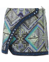 Matthew Williamson Embroidered Mini Skirt - Lyst