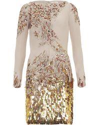 Matthew Williamson Embellished Long Sleeve Dress - Lyst