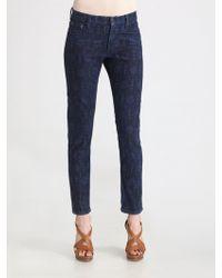 Ralph Lauren Blue Label Roslyn Skinny Cropped Jeans - Lyst