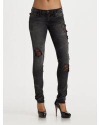 Rock & Republic   Wynona Low Rise Skinny Jeans   Lyst