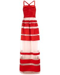 Temperley London Red Satin Freya Ribbon Dress - Lyst