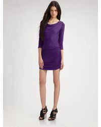 Theory Lavia Ruched Cowlneck Dress - Lyst