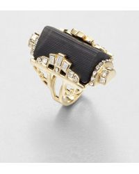 Alexis Bittar Embellished Lucite Barrel Ring - Lyst