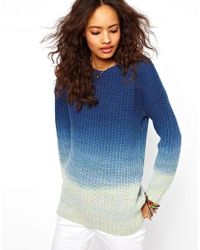 ASOS Collection - Dip Dye Jumper - Lyst