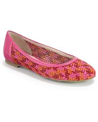 Boutique 9 Allix Woven Leather Ballet Flatspink Multi - Lyst