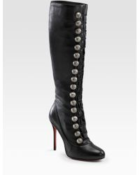 f0b7ba53c02 christian louboutin Miss Tack Botta 85 knee-high boots