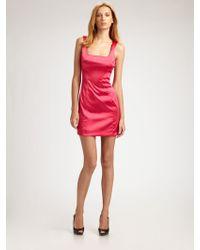 D&G Stretch Satin Mini Dress - Lyst