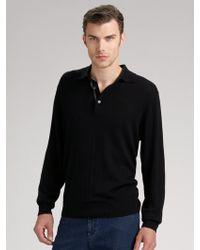 Joseph Abboud | Silkcashmere Polo Sweater | Lyst