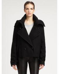 Maison Margiela Wool Funnel Neck Jacket - Lyst