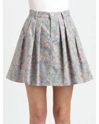 Marc By Marc Jacobs Drew Blossom Denim Skirt - Lyst