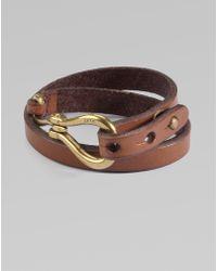 Ralph Lauren Blue Label | Vachetta Leather Cuff Bracelet | Lyst