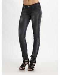 Rock & Republic   Crazy B Low Rise Skinny Jeans   Lyst