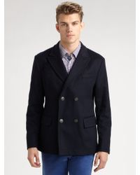 Boss Black Clynt Doublebreasted Peacoat - Lyst