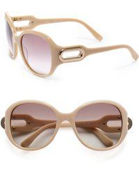 Chloé Round Acetate Sunglasses - Lyst